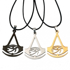 3 colors Game Assassins Creed Origins Logo Choker Necklace