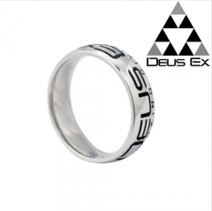 PS4 Game Deus Ex Logo Stainless Steel Ring Finger Ring
