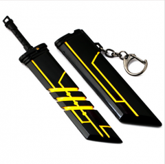 16cm Hot Game League Of Legends LOL Weapon Sword Zinc Alloy Pendant Model Key Ring Keychain