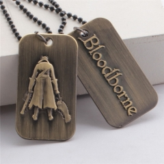 PS4 Game Bloodborne Keychain Necklace Gift For Friends Lovers
