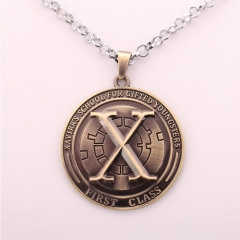 Movie Jewelry Superman Super Hero X-Men Logo Necklace