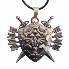 Game The Legend of Zelda Logo Rope Chain Necklace