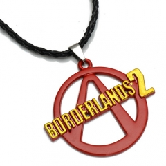 PS3 Game Borderlands 2 Logo Necklace Keychain Fashion Keyring