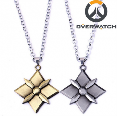 Hot Game Overwatch Tracer Reaper OW Keychain Key Holder Necklace