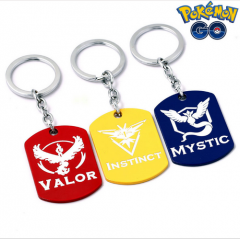 Game Pokemon GO Team Valor Instinct Mystic Logo Dog Tag Pendant Keyring Necklace