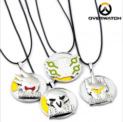 Game OW Overwatch Reinhardt Wilhelm Reaper Tracer Genji Symbol Rotatable Necklace