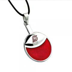 Hot Anime Naruto Sasuke Uchiha Family Marks Logo Pendant Necklace