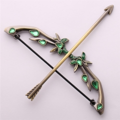 12cm Game Dota 2 King Butterfly Weta Bow Arrow Sword Model Keychain Keyholder