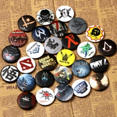 29 types Game Anime Badge Dota Assassin's Creed Dark Souls The Witcher Dragon ball Z CSGO Brooches Pin Collection Great Gift