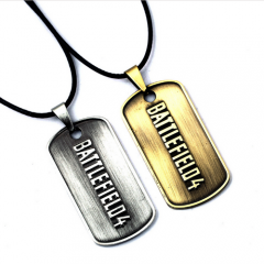Hot Game Battlefield 4 BF4 Dog Tag Pendant Choker Necklace