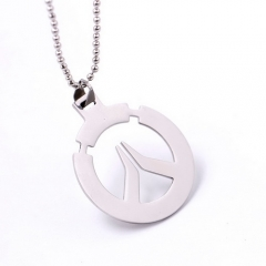 Game Overwatch Logo Tracer Reaper OW Alloy Pendant Keychain Necklace