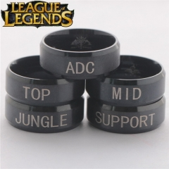 Hot Game League of Legends Ring ADC TOP MID JUNGLE SUPPORT Position Logo Stainless Steel Rings