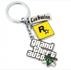 PS4 Game GTA5 Grand Theft Auto Logo Keychain Jewelry for cars