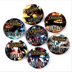 7 types Hot Game League of Legends Postion Pin Brooche School Bag Badge Game Collection Great Charm Gift For fans