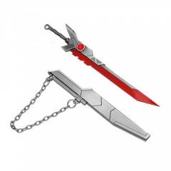 16cm Game LOL League of Legends The Grand Duelist Fiora Laurent Weapon Sword Keychain Model Pendant Charm Jewelry