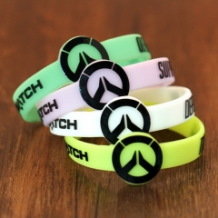 Hot Game Overwatch Bracelet Tracer Reaper OW Logo Silicone Wristband