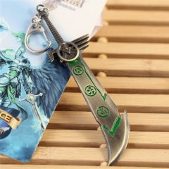 12cm Game League of Legends Weapon Keychain LOL The Exile Riven Sword Model keyring