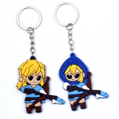 Game The Legend of Zelda Keychain Silicone model keyring Charm Cosplay Jewelry Birthday Gift