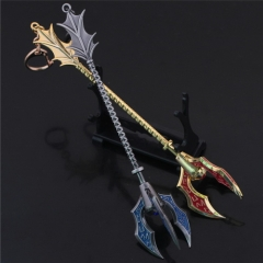 Game League of Legends Weapon Keychain LOL the Tidal Trickster Fizz Sea Spirit model keyring For Men Charm Gift