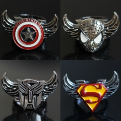10 type Game Assassin's Creed Movie Superman Iron Man Spider-Man Transformers Captain America Batman Super Heros Rotatable Ring