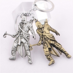 Game Assassin's Creed Ezio Deiss Mond Model Pendant Keyring Keychain
