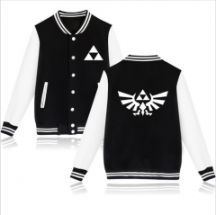 Game The Legend of Zelda Triforce Logo Baseball Jacket Sweatshirt Coat Hoodie Clothing