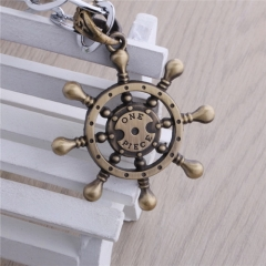 Anime One Piece Luffy Pirate Ship Rudder Necklace Ships Wheel Choker Necklace