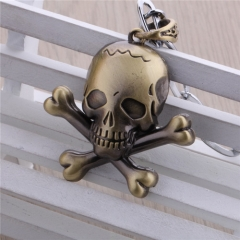 Hot Anime One Piece Choker Necklace Bronze Skull Steering Wheel Helm Jewelry Pendant Necklace