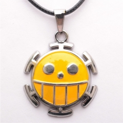 Anime One Piece Luffy Trafalgar Law Smile face Choker Necklace