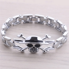 Hot Anime One Piece Bracelet Skull Logo Bangle Alloy Wristband