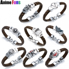 8 types Anime Game Bracelet One Piece Tokyo Ghou Attack on Titan The Legend of Zelda Assassin's Creed Final Fantasy Weave Bangle