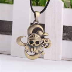 Anime One Piece Skull Skeleton Statement Choker Necklace