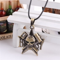 Hot Anime One Piece Bleach Skull Logo Choker Necklace