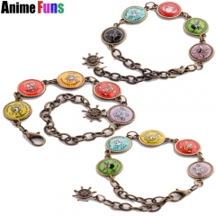 3 types Anime One Piece Luffy Skull Logo Bracelet Pendant Bangle