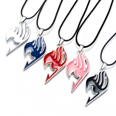 5 colors Anime Fairy Tail Guild Logo Necklace