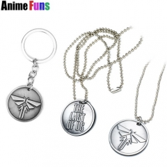 Game The Last of Us Logo Keychain Dog Tag Pendant Choker Necklace