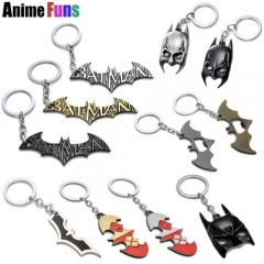 17 types Movie Superman VS Batman Keychain Logo Keyring Bottle Opener Key Holder Batman Mask Bat Pendant Charm Gift
