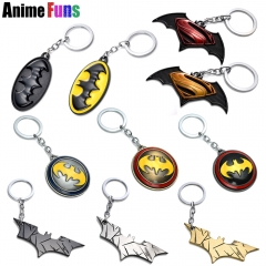 17 type Movie Superman VS Batman Keychain Mask Logo Keyring Rotable Key Holder