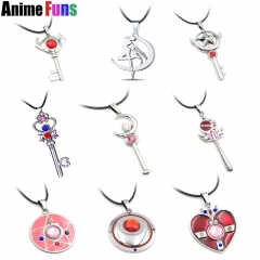 10 types Anime Pretty Soldier Sailor Moon Choker Necklace Guardian Gold Heart Star Magic Wand Crystal Charm Pendant Cardcaptor Necklace