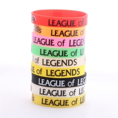 7 color Game League Of Legends Logo Silicone Bracelets & Bangle LOL Wristband