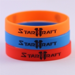 Game StarCraft II Wings-of-Liberty Logo Silicone Terran Protoss Zerg Wristband Bracelets & Bangle Charm Diabetes Gift