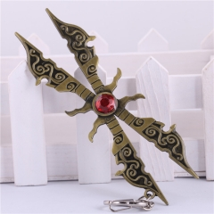 12cm Game League Of Legends Irelia Weapon Key Chain LOL Sword Blade Keyring