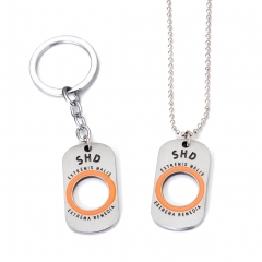 Game Tom Clancy's The Division Logo Choker Necklace for women man SHD Dog Tag Metal Pendant Keyring