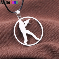 Game CS GO Counter Strike Choker Necklace Stainless Steel Soldier Figure Pendant