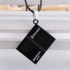 Anime Death Note Black Notebook Shape Pendant Choker Necklace