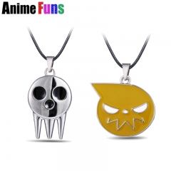 2 types Anime Soul Eater Death Kid Skull Ghost Logo Choker Necklace
