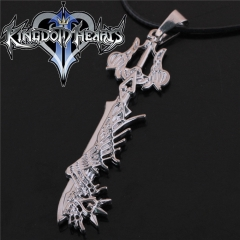 Game Kingdom Hearts Series Crown Key Sora Logo Choker Necklace DM722