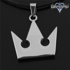 Game Kingdom Hearts Series Crown Key Sora Logo Choker Necklace DM711