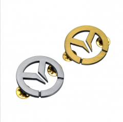 Game Overwatch OW Logo Badge Pin bronze silver Brooch for fans