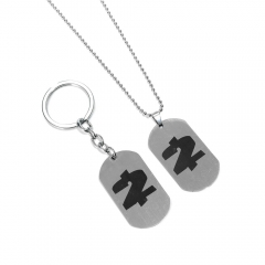Game PAYDAY 2 Logo Choker Necklace Payday The Heist Stainless Steel Pendant Keyring Keychain for car Charm Souvenir
